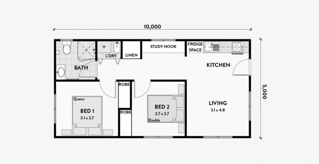 Bluebell 2br 50m2