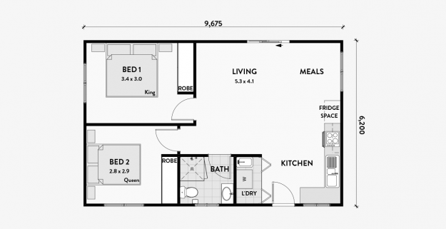 LILY 60m2 2 bedroom