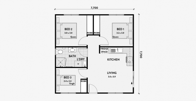 Matilda 3 bedroom granny flat