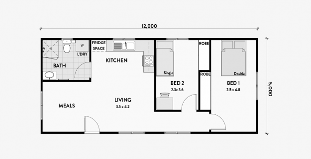 Boronia 2 Bedroom 60m2