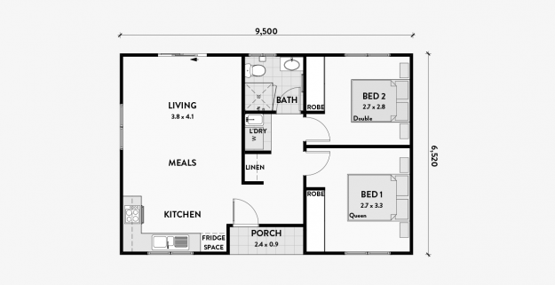Daisy 2 Bedroom 60m2