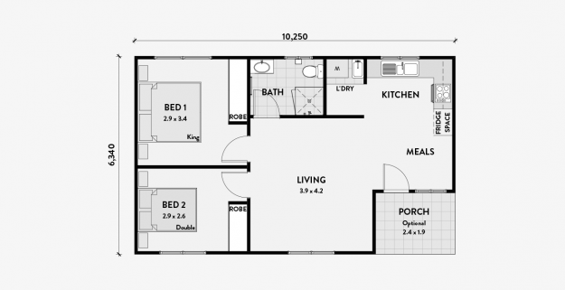 Executive  2 bedroom granny flat