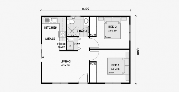Geranium 2 Bedroom 50m2