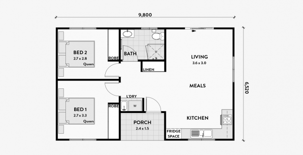 Magnolia 2 Bedroom 60m2