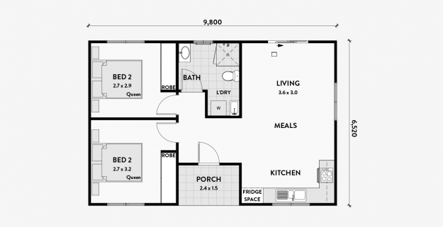 Magnolia A 2 Bedroom 60m2