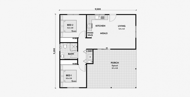 Maximus 2 Bedroom 60m2