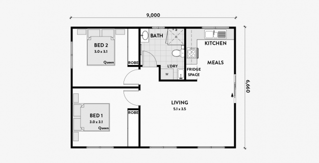 Orchid 2 Bedroom 60m2