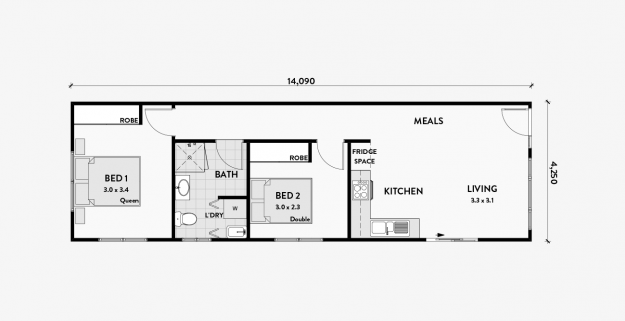 Poppy 2 Bedroom 60m2