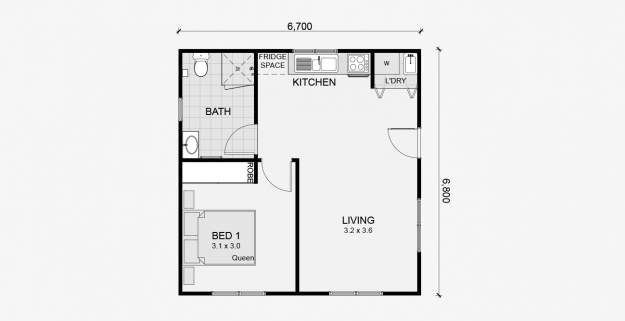 Rosewood 1 Bedroom
