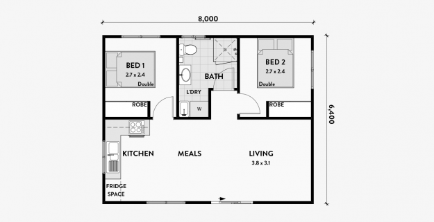 Starlet 2 Bedroom 50m2