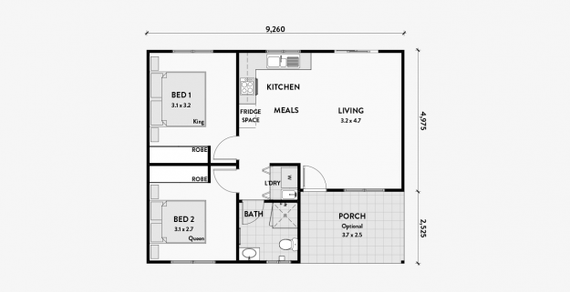 Stringybark 2 Bedroom 60m2