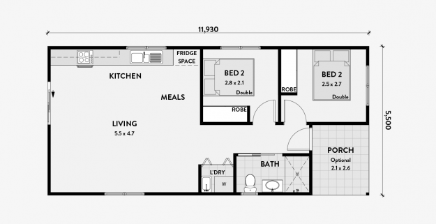 Tulip 2 Bedroom 60m2