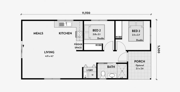 Tulip A 2 Bedroom 60m2