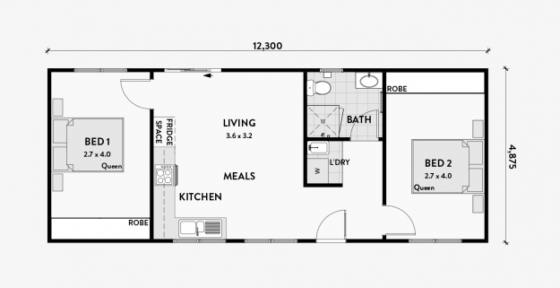 Wattle A 2 Bedroom 60m2