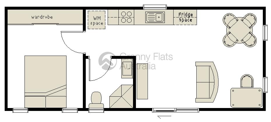 1 Bedroom Granny Flat Designs | Granny Flats Australia