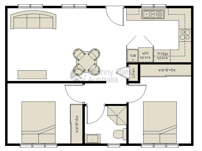 2 Bedroom Granny Flat Designs | Granny Flats Australia